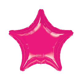 "18"" Hot Pink Star Mylar Balloon"