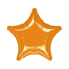 "18"" Orange Star Mylar Balloon"
