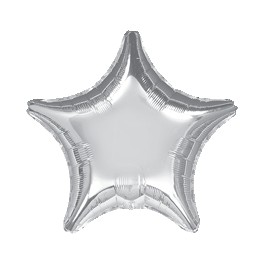 "18"" Silver Star Mylar Balloon"