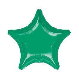 """18"""" Jungle Green Star Mylar Balloon"""
