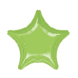 "18"" Lime Green Star Mylar Balloon"