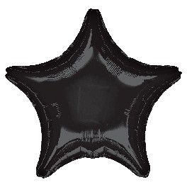 "18"" Black Star Mylar Balloon"