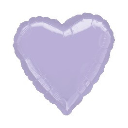 "18"" Lilac Heart Mylar Balloon"