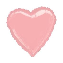 """18"""" Pastel Pink Heart Mylar Balloon"""