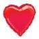 "18"" Red Heart Mylar Balloon"