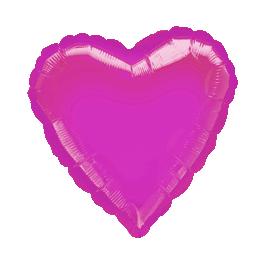"""18"""" Hot Pink Heart Mylar Balloon"""
