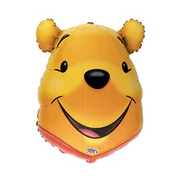 "26x19"" Pooh Head Mylar Balloon"