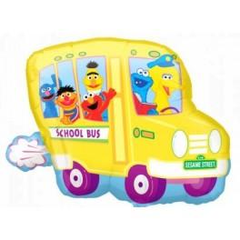 "28"" Sesame Bus Mylar Balloon"