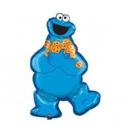 """31"""" Sesame Cookie Monster Mylar Balloon"""