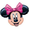 "28x23"" Minnie Head Mylar Balloon"