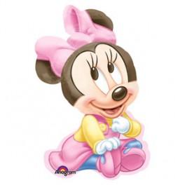 "33"" Minnie Mouse 1st BD Girl Mylar Balloon"