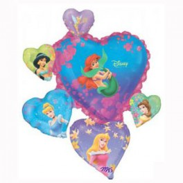 "38"" Princess Group Heart Mylar Balloon"