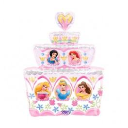 "28"" Disney Princess Birthday Cake Mylar Balloon"