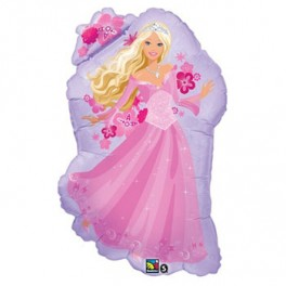 "32"" Perennial Princess Barbie Mylar Balloon"