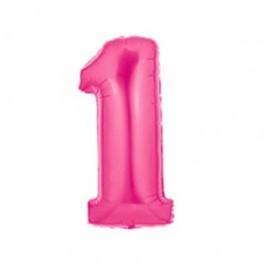"""40"""" Megaloon 1st Pink Mylar Balloon"""
