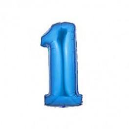 """40"""" Megaloon 1st Blue Mylar Balloon"""