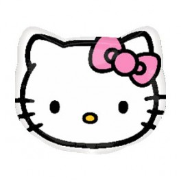 "21"" Hello Kitty Head Mylar Balloon"
