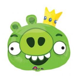 "23"" Angry Bird King Pig Mylar Balloon"
