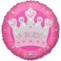 "18"" Happy Birthday Princess Tiara Mylar Balloon"