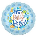 "18"" Baby Boy Feet Mylar Balloon"
