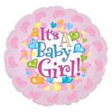 "18"" Baby Girl Feet Mylar Balloon"