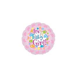 "18"" Baby Girl Feet Mylar Balloon"