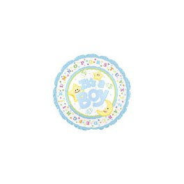 "18"" Baby Boy Star & Moon Mylar Balloon"