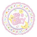 "18"" Baby Girl Star & Moon Mylar Balloon"