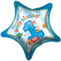 """18"""" Fun At One Boy Mylar Balloon"""