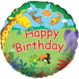 "18"" Jungle Buddies Mylar Balloon"