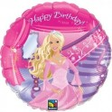 "18"" Barbie Happy Birthday Mylar Balloon"