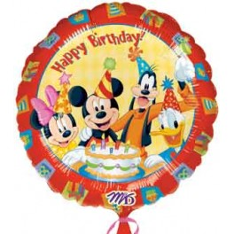 "18"" Mickey & Friends Happy Birthday Mylar Balloon"
