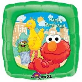 "18"" Elmo n Friends Birthday Mylar Balloon"
