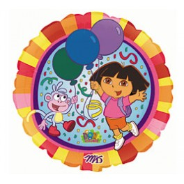 "18"" Dora Happy Birthday Mylar Balloon"