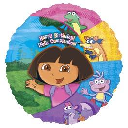 "18"" Dora & Friends Birthday Mylar Balloon"