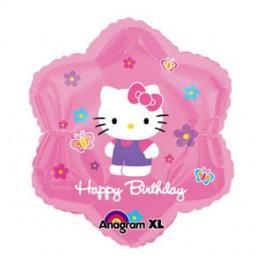 """18"""" Hello Kitty Birthday Mylar Balloon"""