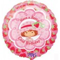 "18"" Strawberry Shortcake BD Mylar Balloon"