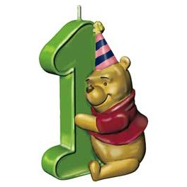 Pooh 1st Birthday Candle