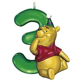 Pooh 3rd Birthday Candle