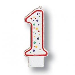 No 1 Polka Dots Candle